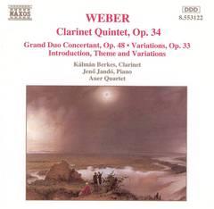 Kalman Berkes - Weber: Clarinet Works