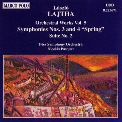 Nicolas Pasquet - László Lajtha: Orchestral Works, Vol. 5