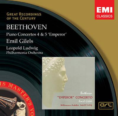 Beethoven, L. Van - Beethoven : Conc. Piano 4, 5 - Philharmonia Orches