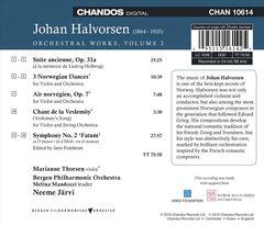 Neeme Järvi - Johan Halvorsen: Orchestral Works, Vol. 2