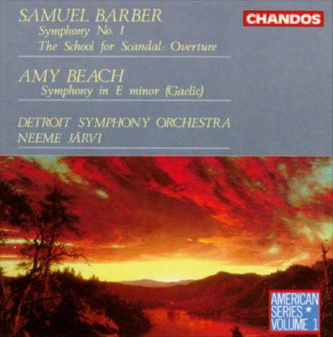 Neeme Järvi - Barber: Symphony No. 1; The School for Scandal Overture; Beach: Gaelic Symphony
