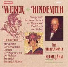 Neeme Järvi - Weber: Overtures; Hindemith: Symphonic Metamorphoses on the Themes of Carl Maria von Weber