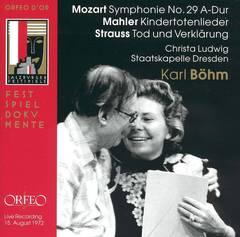 Karl Böhm - Karl Böhm Conducts Mozart, Mahler, Strauss