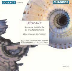Paavo Järvi - Mozart: Serenade in B flat for 13 Wind Instruments; Divertimento in F Major