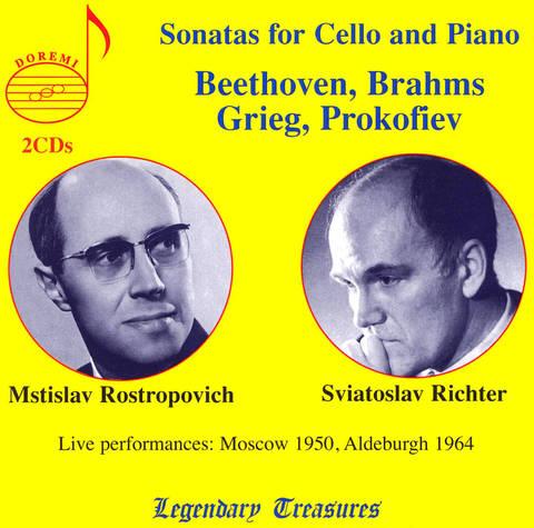 Mstislav Rostropovich - Beethoven, Brahms, Grieg, Prokofiev: Sonatas for cello & piano