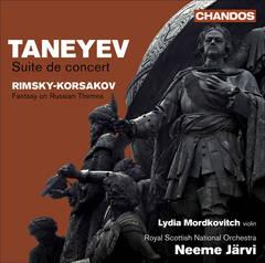 Neeme Järvi - Taneyev: Suite de Concert; Rimsky-Korsakov: Fantasy on Russian Themes