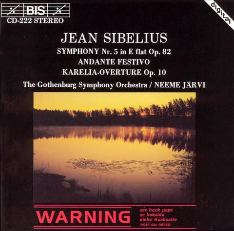 Neeme Järvi - Jean Sibelius: Symphony No. 4; Andante Festivo; Karelia-Overture