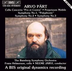 "Neeme Järvi - Arvo Pärt: Cello Concerto ""Pro et Contra""; Perpetuum Mobile; Symphonies Nos. 1-3"