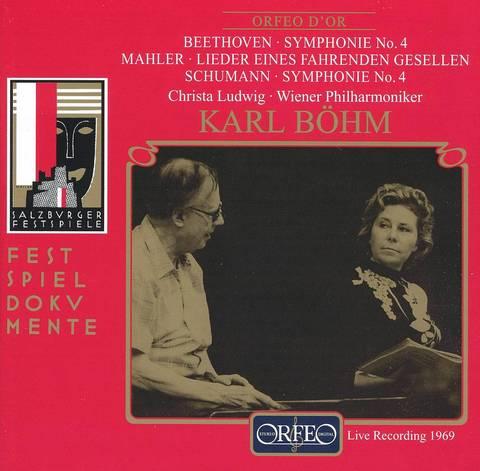 Karl Böhm - Beethoven: Symphonie No. 4; Mahler: Lieder eines fahrenden Gesellen; Schumann: Symphonie No. 4