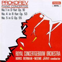 Neeme Järvi - Sergey Sergeyevich Prokofiev: Piano Concertos Nos. 1, 4 & 5