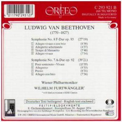 Beethoven, L. Van - Symphonies No.7&8