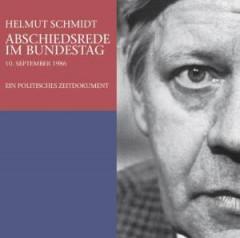 Helmut Schmidt - Abschiedsrede im Bundestag