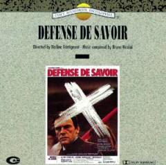 Original Soundtrack - Defense de Savoir
