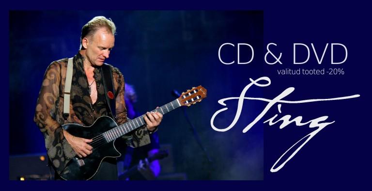 Sting CD & DVD. Valik tooteid soodushinnaga!